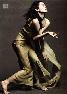 Dancing in the Soul    Model: Ming Xi  Photographer: Daniel Jackson  Fashion Editor: Tiina Laakkonen  Magazine: Vogue China, May 2012    Photo: © Vogue China
