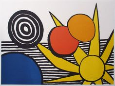 alexander calder: untitled (Sun With Two Red Circles) - georgetownframeshoppe.com