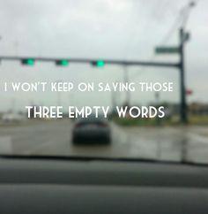 Shawn Mendes - Three empty words- Lyrics - Stop light