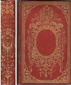 Victorian book binding - Hemens Poetical Works 1839. Gwendolen and Cecily will grab these and pretend to be reading them whilst ignoring the men.
