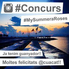 Moltes felicitats @cuacat i mil gràcies a tots els que heu participat al concurs #MySummeraRoses!! Us convidem a seguir compartint amb nosaltres a través del hashtag #VisitRoses