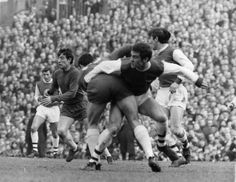 Arsenal 1 Birmingham City 1 in March 1968 at Highbury. Peter Storey clears the ball in the FA Cup 5th Round tie.