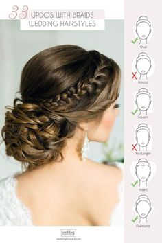 Bandana Hairstyles 30 Graceful Wedding Updos With Braids Updo hairstyles for brides look so pretty and graceful. Check out wedding updos with braids in our gallery and be inspired! Bridal Hairdo, Hairdo Wedding, Wedding Hair Pins, Wedding Hairstyles For Long Hair, Wedding Hair And Makeup, Summer Hairstyles, Braided Hairstyles Updo, Braided Updo, Bride Hairstyles