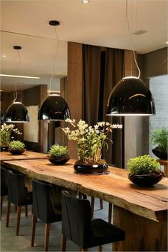 contemporary dining room chairs in solid wood Most Beautiful Furniture Dining Room Chairs, Dining Area, Kitchen Dining, Kitchen Decor, Dining Table, Sweet Home, Industrial Style Kitchen, Küchen Design, Design Ideas