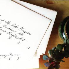 Simple Envelope Calligraphy #weddinginspiration #wedding #calligraphy #envelopecalligraphy