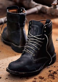 Black boot for photo shoots