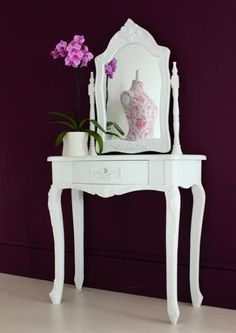 White vanity table from Out There Interiors