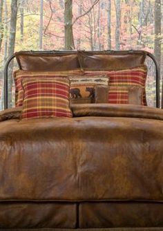 Victor Mill Gatlinburg California King Comforter Set X - Brown - Cal. Comforter Sets, Comforters, Rustic Comforter, Guest Bedroom Design, King Comforter Sets, Rustic Bedding, Bed, Bed Styling, King Size Comforter Sets
