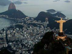Vista aérea do monumento do Cristo Redentor, na cidade do Rio de Janeiro (Foto: Wilton Junior/Estadão Conteúdo)