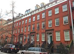 new york city row houses | This is Cushman Row, seven red-brick beauties at numbers 406 to 418 ...