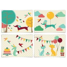 Home - oktoberdots-shop. Dots, Kids Rugs, Illustration, Party, Animals, Home Decor, Stitches, Animales, Decoration Home
