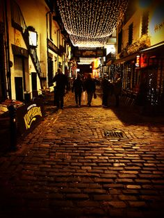 Ashton Lane is a cobbled side street in Glasgow's West End. It is noted for its bars, restaurants and a licenced cinema.