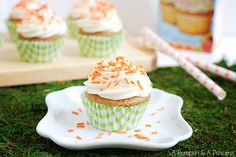 Easter Baking: Carrot Cupcakes with Cost Plus World Market - A Pumpkin & A Princess >>  #WorldMarket Easter Style Hunt Sweepstakes. Enter to win a 1K World Market gift card.