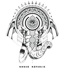 Ganesha Warrior Sticker The remover of obstacles, and facilitator of prosperity, our enlightened series Ganesha Warrior sticker intertwines the Deity's powers of solution, with the sacred geometry's u Mandala Tattoo Design, Mandala Arm Tattoo, Tattoo Designs, Arm Band Tattoo, Line Tattoos, Tattoos For Guys, Sleeve Tattoos, Tatoos, Script Tattoos