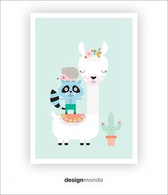 Shop Temple & Webster for All Wall Art to match every style and budget. Alpacas, Cute Images, Cute Illustration, Kids Decor, Nursery Wall Art, Printable Wall Art, Wall Art Prints, Playroom, Inspiration