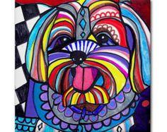 50% Off Sheltie art Tile Ceramic Coaster por HeatherGallerArt