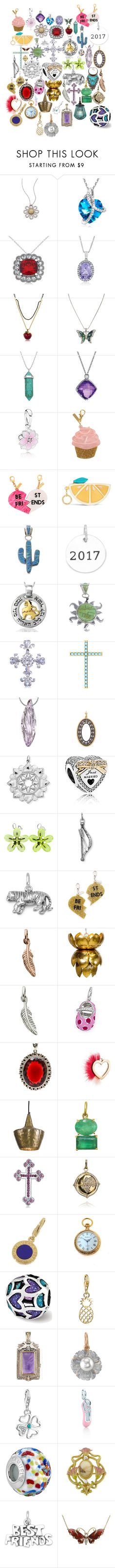 """Pendants"" by rumagurl ❤ liked on Polyvore featuring Roberto Coin, Allurez, Disney, Lord & Taylor, David Yurman, Pandora, Edie Parker, Vera Bradley, Naomi Sarna and Armenta"