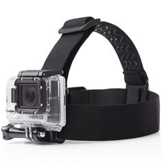 Create hands-free, first-person-POV footage with help from this AmazonBasics GoPro Head Strap Camera Mount. The head-strap camera mount keeps your GoPro cam