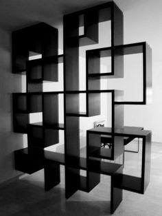 29letters-Shelves Living Room Partition Design, Room Partition Designs, Kitchen Room Design, Home Room Design, 3d Interior Design, Interior Design Living Room, Ceiling Design, Wall Design, Book Racks