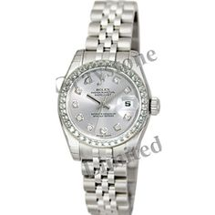 Rolex Oyster Perpetual Lady-Datejust with Diamond Bezel and Diamond Dial.