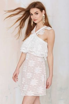 The Jetset Cherie Embroidered White Dress