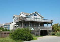 """Twiddy Outer Banks Vacation Home - Sunny Pleasures - Corolla - Semi-Oceanfront - 4 Bedrooms. This was """"our"""" beach house !"""