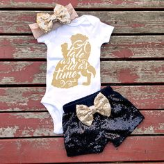 Tale As Old As Time Bodysuit, Baby Girl, Girls, Toddler, Newborn, New Baby, Princess, Beauty, Beast, Fairy Tale, Love Story, Sparkle, Bow