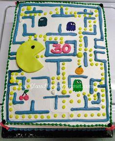 Super fun Pac Man cake