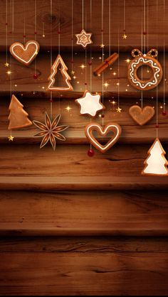 Wood Panel Christmas Wallpaper