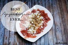 Appetizer Recommendation - Serano Ham with Walnuts, Feta and Honey; Vorspeisenempfehlung: Seranoschinken mit Feta, Walnüssen und Honig