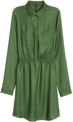 Pin for Later: 24 Shirtdresses You'll Want to Wear All Summer  H&M Shirt Dress in Khaki Green ($25)