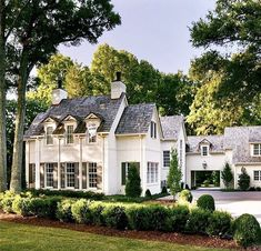 french country home, french country house exterior, white traditional house exte… french country home, french country house exterior, white traditional house exterior Image Size: Dream Home Design, My Dream Home, Dream House Exterior, House Exteriors, Future House, My House, French Country House, House Goals, My New Room