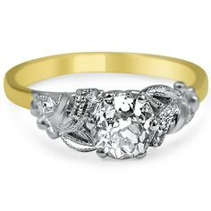 18K Yellow Gold The Pertessa Ring, large top view