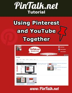 Using Pinterest and YouTube Together. Do you consider YouTube to be social media? Is it just another media source? YouTube is also a search engine! Videos heralding your product, services or blog posts are a wonderful content addition that boosts your websites visibility in searches.