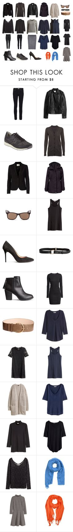 """Capsual Wardrobe Basic"" by lone-haure-norrevang on Polyvore featuring FiveUnits, Jakke, Ray-Ban, VILA, H&M and MANGO"