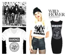 """""""RAMONES!!"""" by pocketchangetees ❤ liked on Polyvore"""