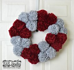 The Christmas Wreath is our last project in the Kid's Christmas Project for 2017. It's been so much fun making all these projects, and I hope you found something that you'll enjoy with your children or grandchildren to make some wonderful memories. I'd never done a Christmas wreath before so it was fun to see … Christmas Projects, Kids Christmas, Christmas Wreaths, Pom Pom Rug, Crochet Designs, Grandchildren, 4th Of July Wreath, Your Child, Memories