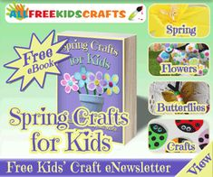 FREE Spring Crafts for Kids eBook!  17 flower  and butterfly crafts!
