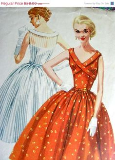 ON SALE Vintage 1950's  Sewing Pattern 1649    by anne8865 on Etsy, $25.76