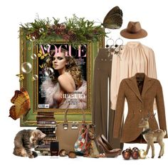 """""""brown green and pink"""" by ntina36 on Polyvore"""