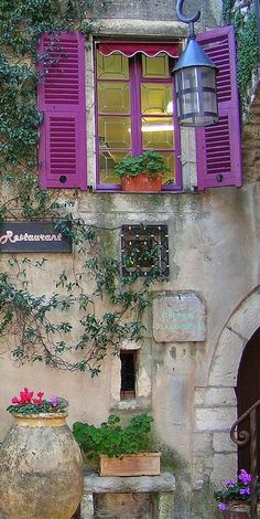 //Joseph Abhar - Ever lasting pure beauty of vernacular architecture, Provence, France Beautiful World, Beautiful Places, Belle France, Beaux Villages, France Photos, Provence France, Monte Carlo, Windows And Doors, Exterior Windows