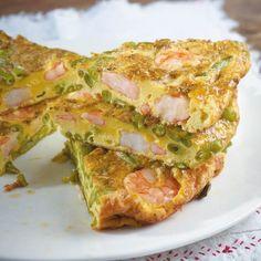 Garnelen-Bohnen-Frittata