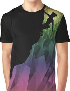 climbing the rainbow Graphic T-Shirt