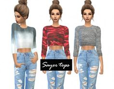 Kenzar Sims: Sayer-tops • Sims 4 Downloads