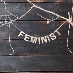 Feminist Custom Glitter Banner | City of Industry