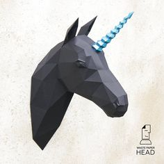 With this template, you can make your own paper unicorn head! Size: 9 pages, 30 or 37 parts (depending on the type of horn) Difficulty level: high The dimensions of the assembled sculpture (cm): H45 W30 D10 when printing on A4 or H65 W40 D15 when printing on A3 The product