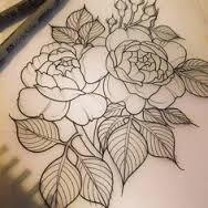 Resultado de imagem para peony tattoo design