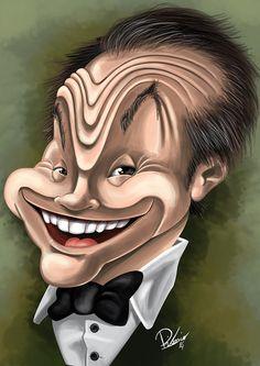 Jack Nicholson - caricature by Ribosio gallery --> http://sketchandbreakfast.com/cinema/