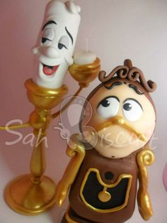 Beauty and the Beast - Lumiere & Cogsworth