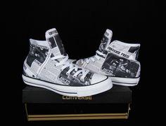 Converse Newspaper prints All Star Chuck Taylor Black & White Kicks / Sneakers